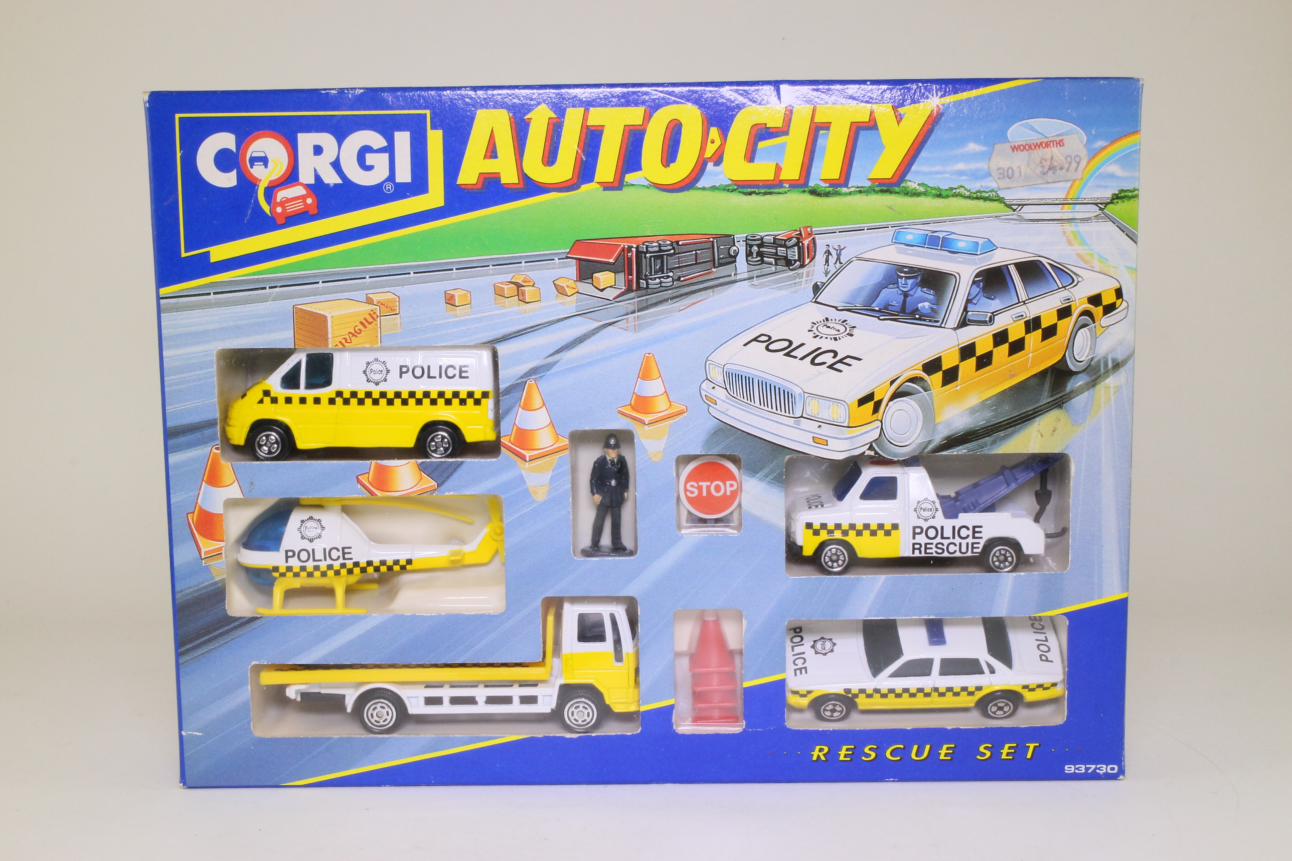 corgi juniors 93730 5 piece auto city police rescue set excellent boxed ebay. Black Bedroom Furniture Sets. Home Design Ideas