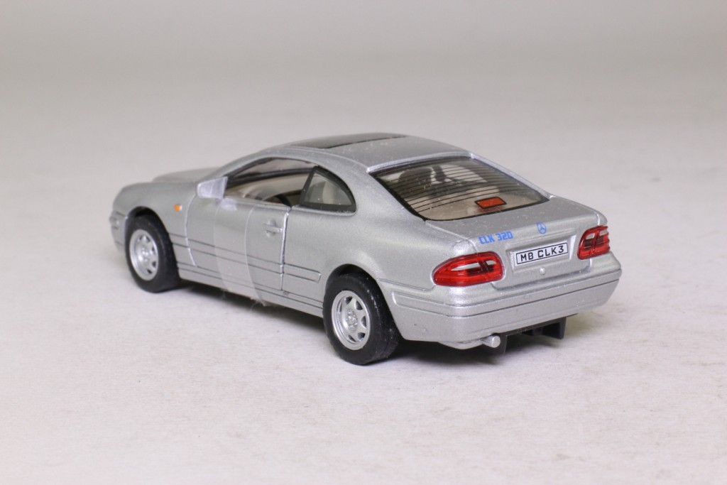 Mercedes benz clk 320 hard top coupe silver cararama for 320 mercedes benz
