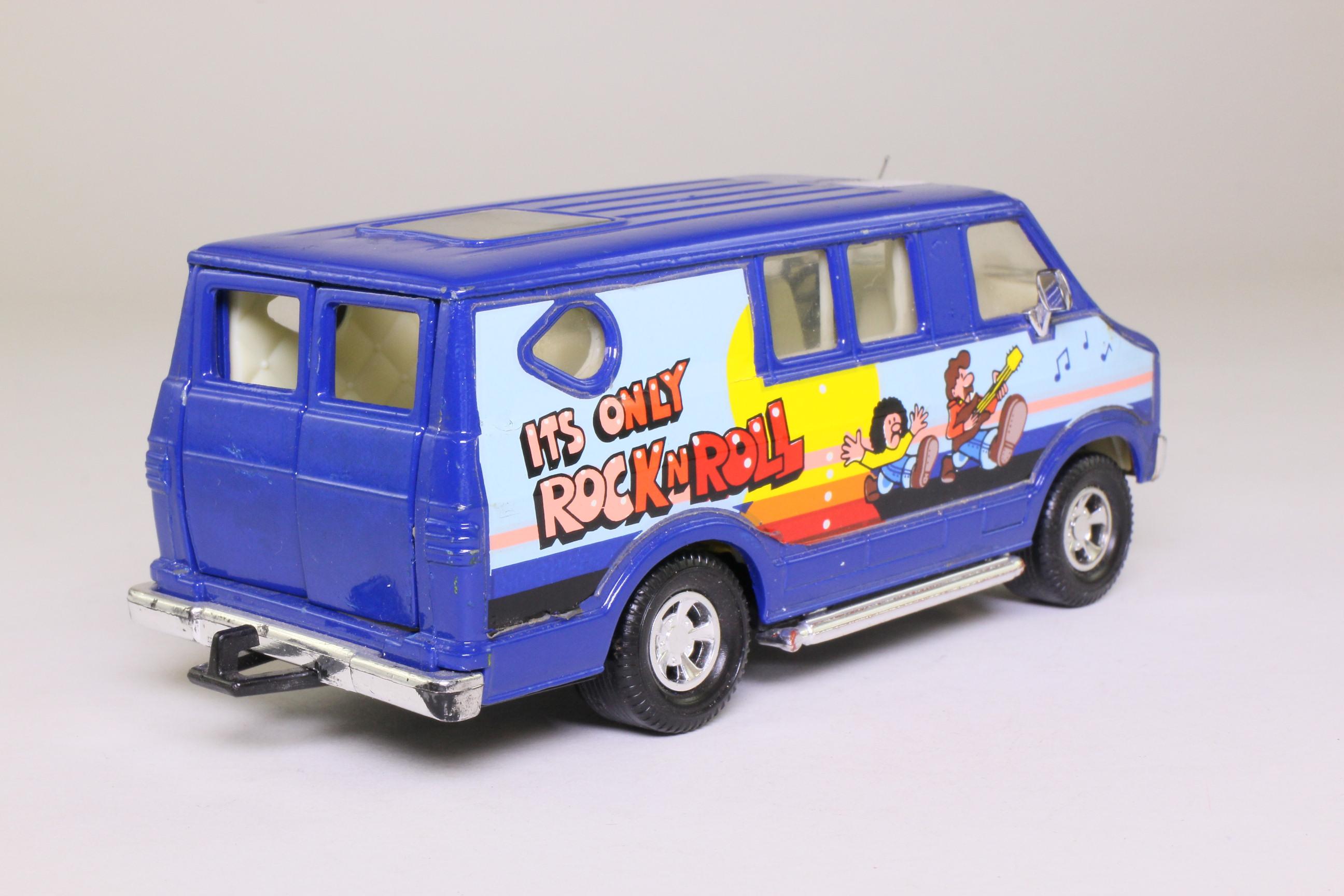 Matchbox SuperKings K-80/1; Dodge Custom Van; It's only Rock 'n Roll; Blue 73406