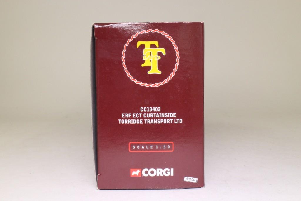 Corgi Ltd Edn CC13402 ERF Ect Curtainside Torridge Factory for sale online