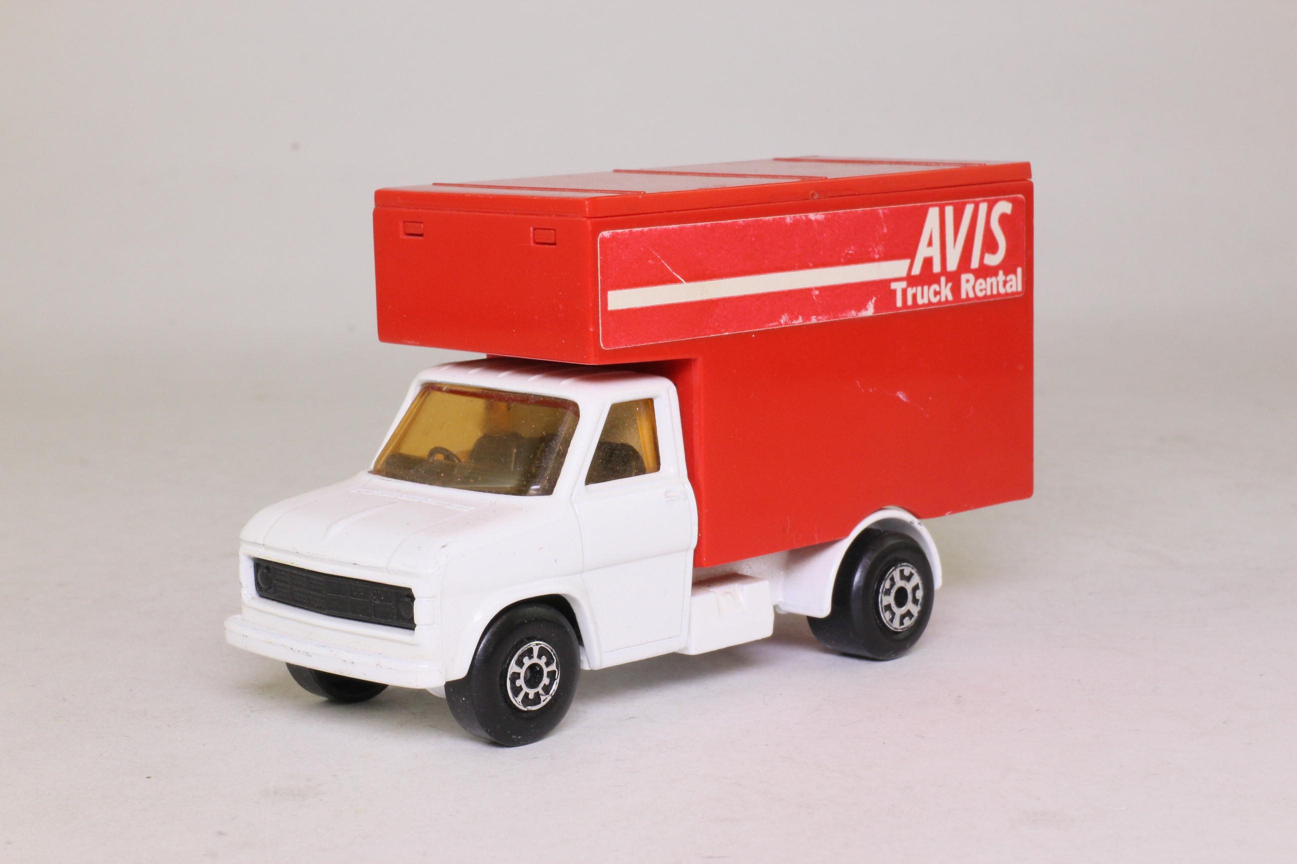 Matchbox King Size K-29/2; Ford A Series Luton Van; Avis Truck Rental, Very Rare White Cab 80312