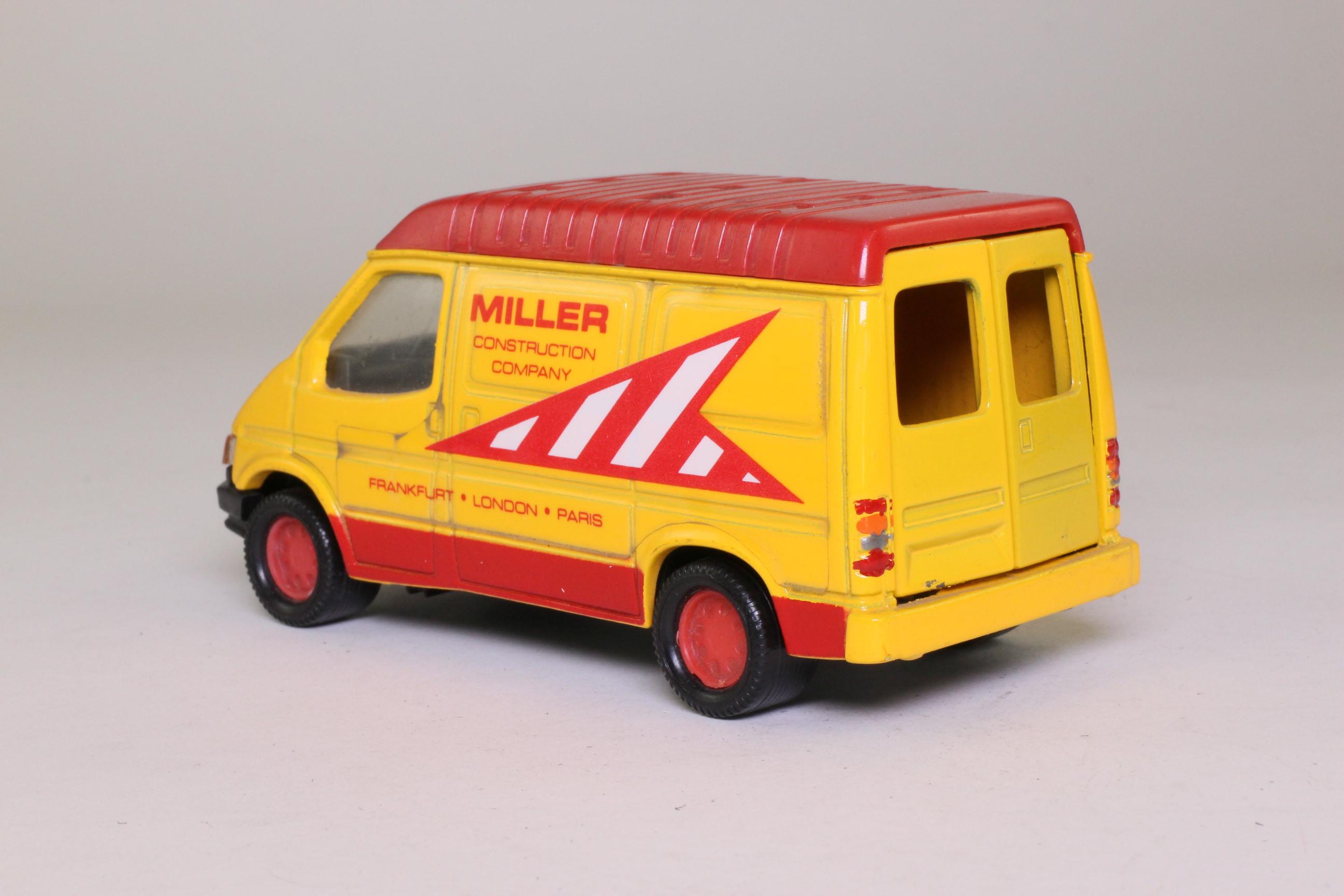 Matchbox SuperKings CS-2; Ford Transit Van; Miller Construction Company 86024