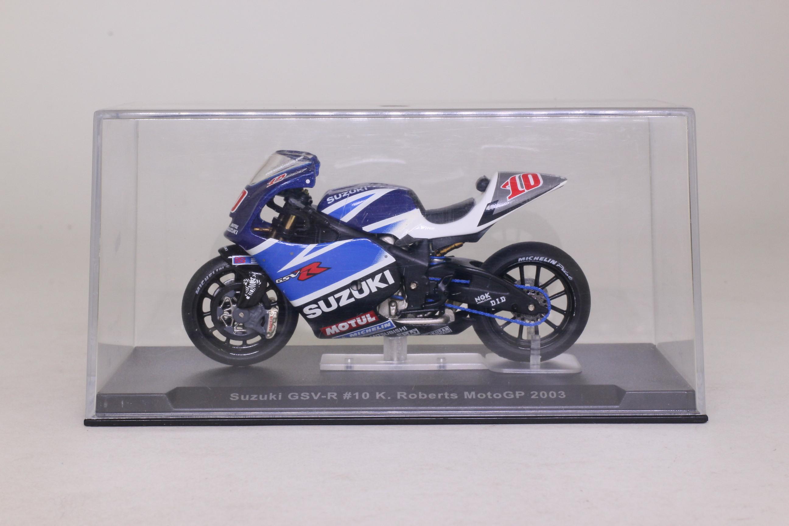 IXO; Suzuki GSV R Moto GP Motorcycle; 2003, K Roberts, RN10 ...
