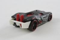 Hot Wheels L9929; Prototype H-24; Matt Black; 2011 Thrill Racers - Raceway #1