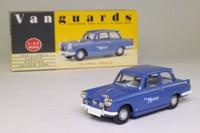 Vanguards VA05006; Triumph Herald; Monte Carlo Rally Press Car, 1960; Blue; 'Motor'