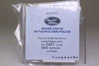 Vanguards VA06501; Rover P6; 3500 V8, Metropolitan Police